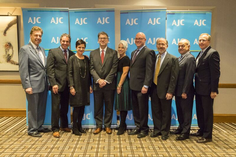 Rob Bernstein with AJC NJ board members and staff