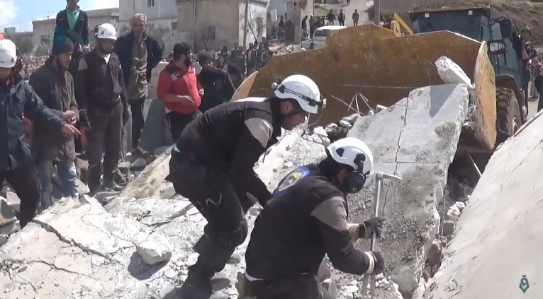 Photo of White Helmets in Rescue Operation
