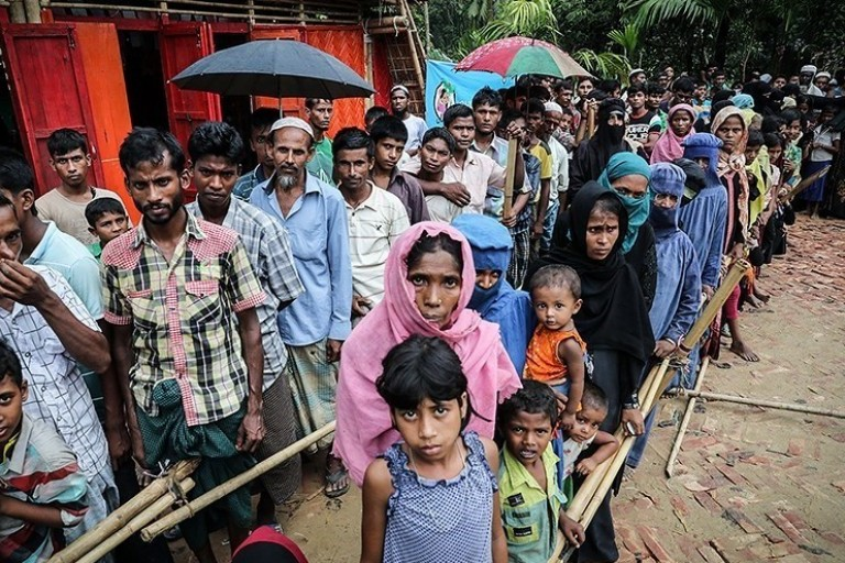 Photo of Rohingya refugees