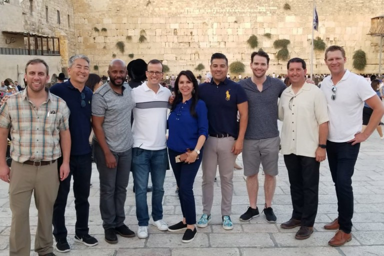 Photo of Bipartisan Delegation of California State Legislators at the Western Wall
