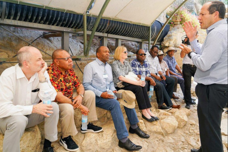 Photo of Sixth Delegation of UN Ambassadors visiting the Western Wall.
