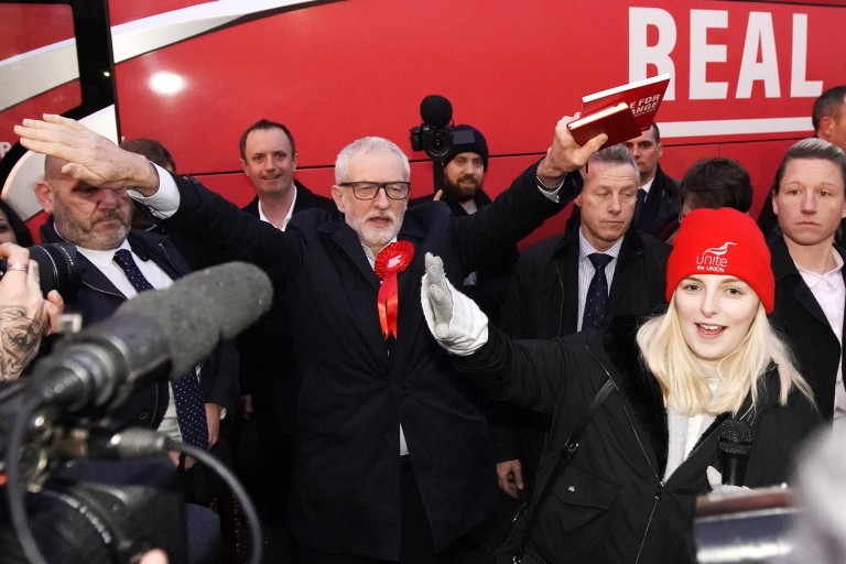 Jeremy Corbyn campaigns for prime minister
