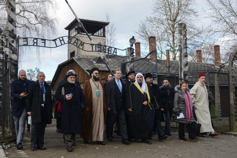 AJC and MWL leaders march together at Auschwitz