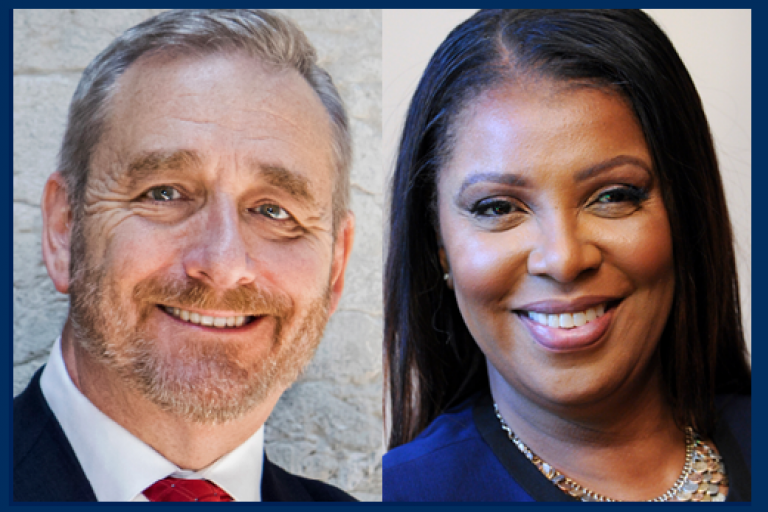 Attorney General Dave Yost of Ohio and Attorney General Letitia James of New York
