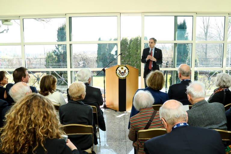 Photo of an AJC event at the US Embassy in Warsaw, Poland