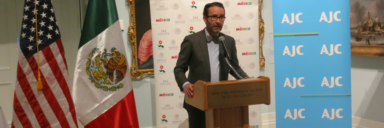 Photo of speaker at AJC NY's Mexico event at the NY Historical Society