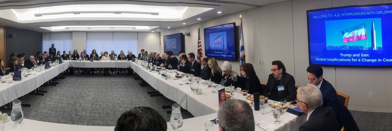 AJC NY Dialogues with Diplomats breakfast