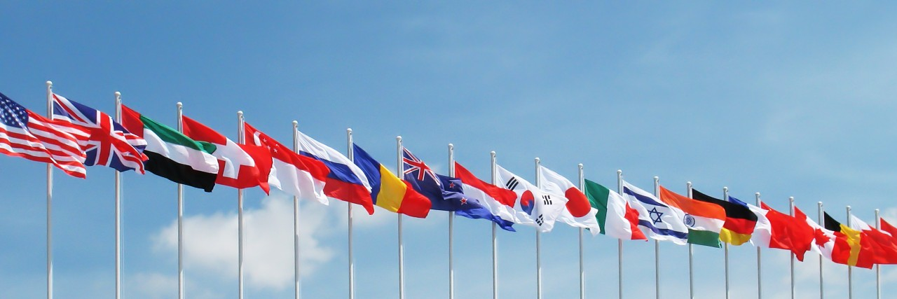 Photo of world flags