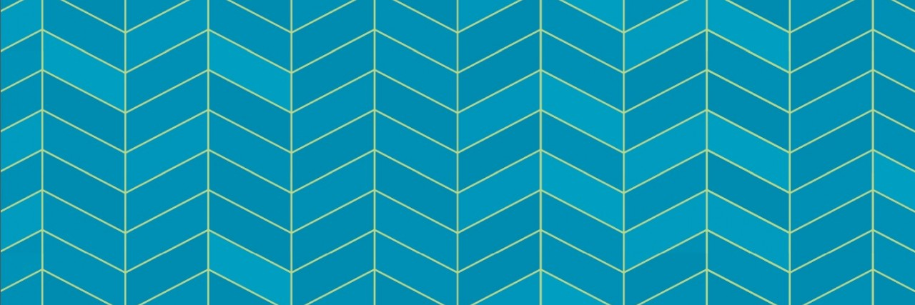 Graphic of blue chevron design used for the 2018 Selig Award