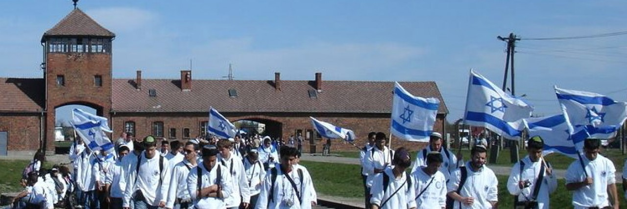 Photo of the March of the Living at Auschwitz