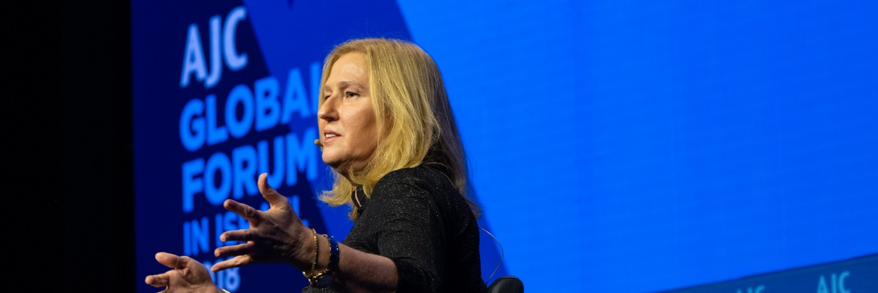 Photo of a Conversation with Tzipi Livni at AJC Global Forum 2018