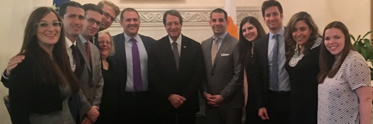 Photo of AJC ACCESS and HALC Leaders with President of the Republic of Cyprus, Nicos Anastasiades