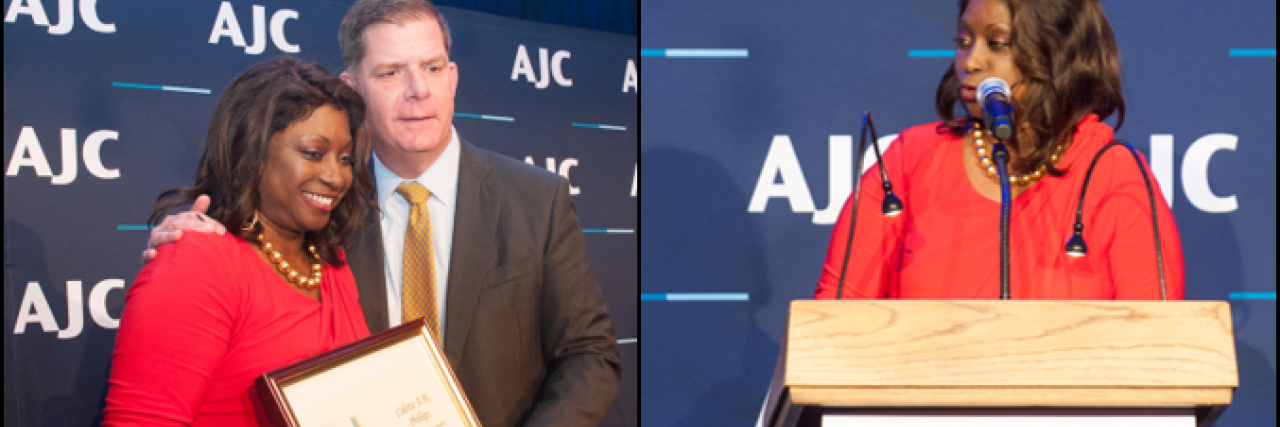 Mayor Walsh Presents 2018 AJC New England Co-Existence Award to Colette Phillips