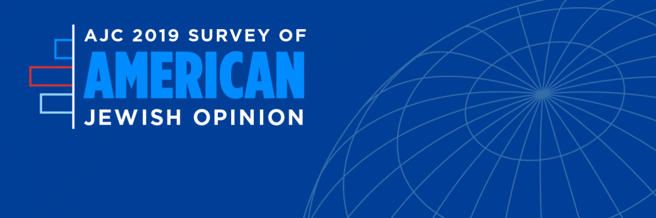 Graphic displaying AJC 2019 Survey of American Jewish Opinion