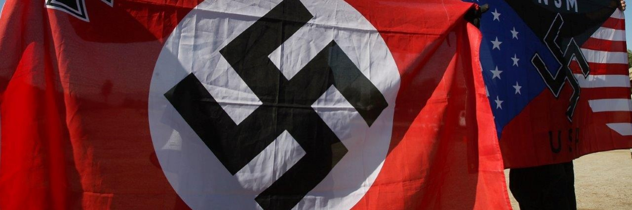 Flag with a swastika