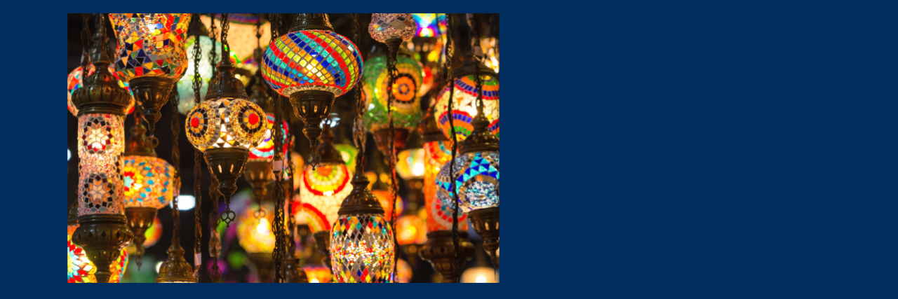 Colorful Moroccan lamps