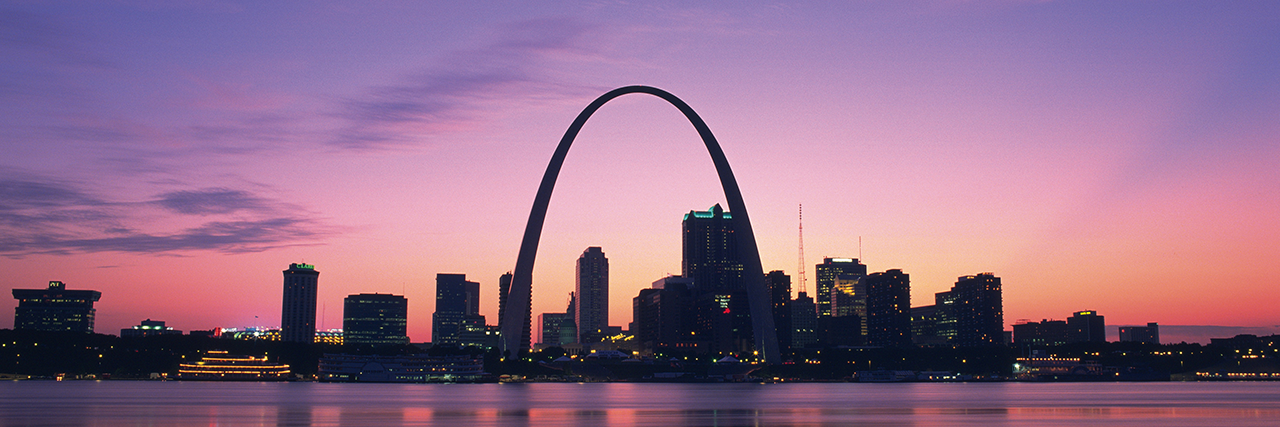 Photo of St. Louis skyline
