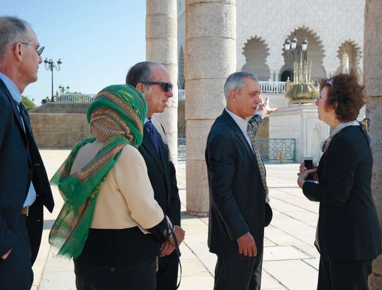 Photo of members of AJC National Leadership Council on a mission to Morocco