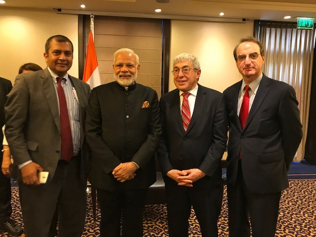 Photo of Indian PM Modi with AJC Delegation