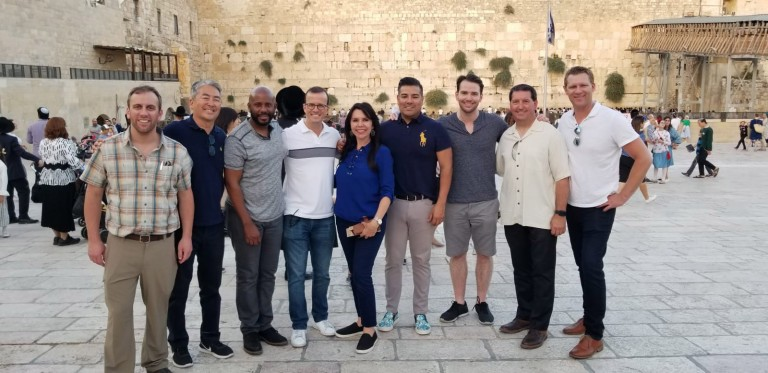 Photo of delegation group from California State Legislature on a visit to the Western Wall