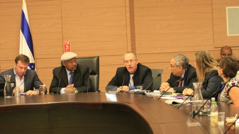 Photo of AJC's Jewish Religious Equality Coalition (J-REC) advocating before the Knesset's Diaspora Committee