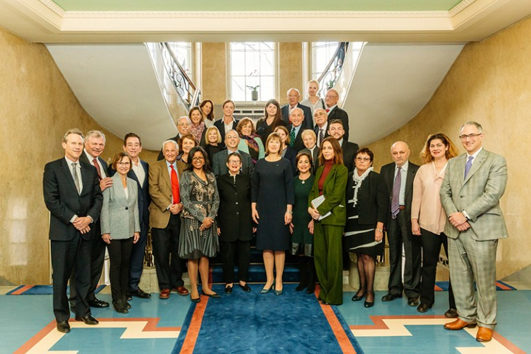 Photo of an AJC delegation meeting with Estonian President Kersti Kaljulaid