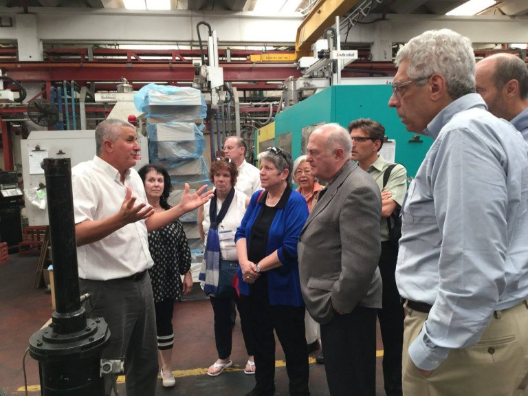 Group of University Alumni visiting an Israeli manufacturing plant
