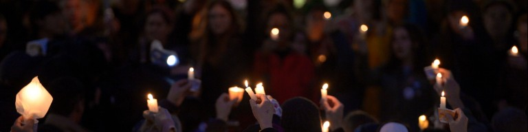 Vigil for the victims of the Pittsburgh Synagogue Shooting