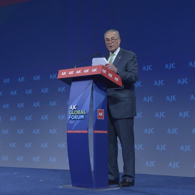 Senate Minority Leader Schumer Addresses AJC Global Forum