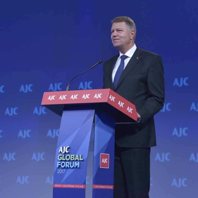 Romanian President Iohannis Receives AJC Light Unto Nations Award