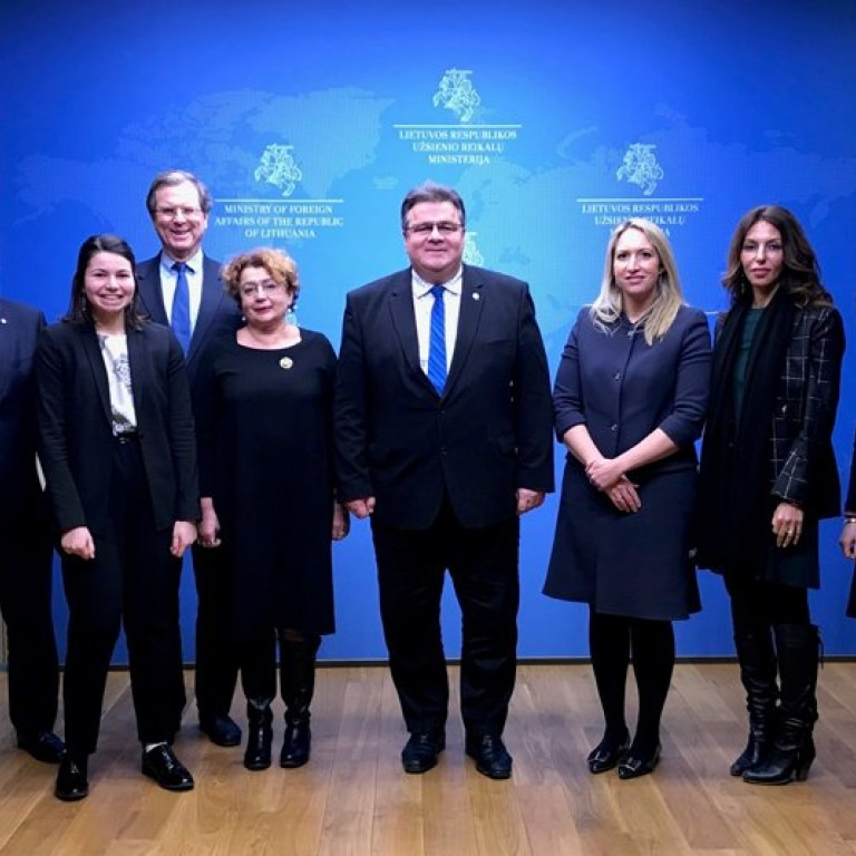 AJC Delegation Meets Lithuania Foreign Minister in Vilnius