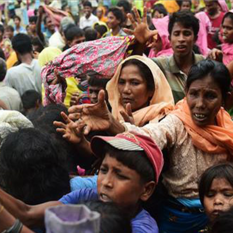 Photo of Rohingya refugees at Kutupalong refugee camp