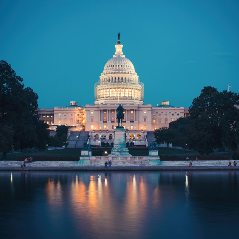 Photo of the Capitol Building at night