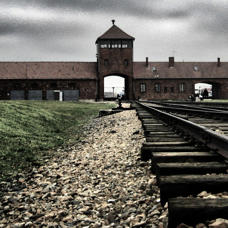 Photo of the Birkenau concentration camp