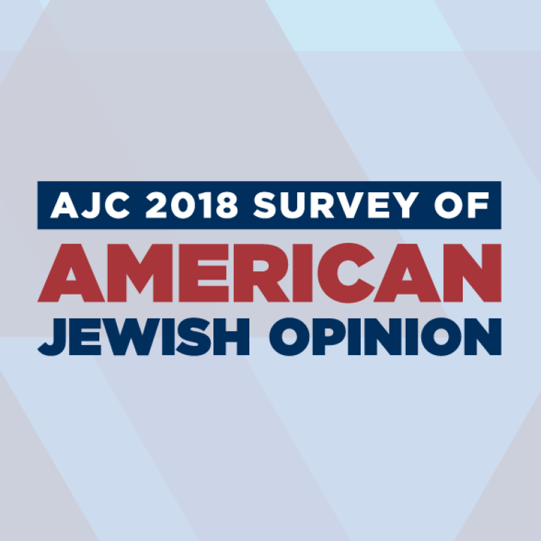 Graphic displaying AJC 2018 Survey of American Jewish Opinion