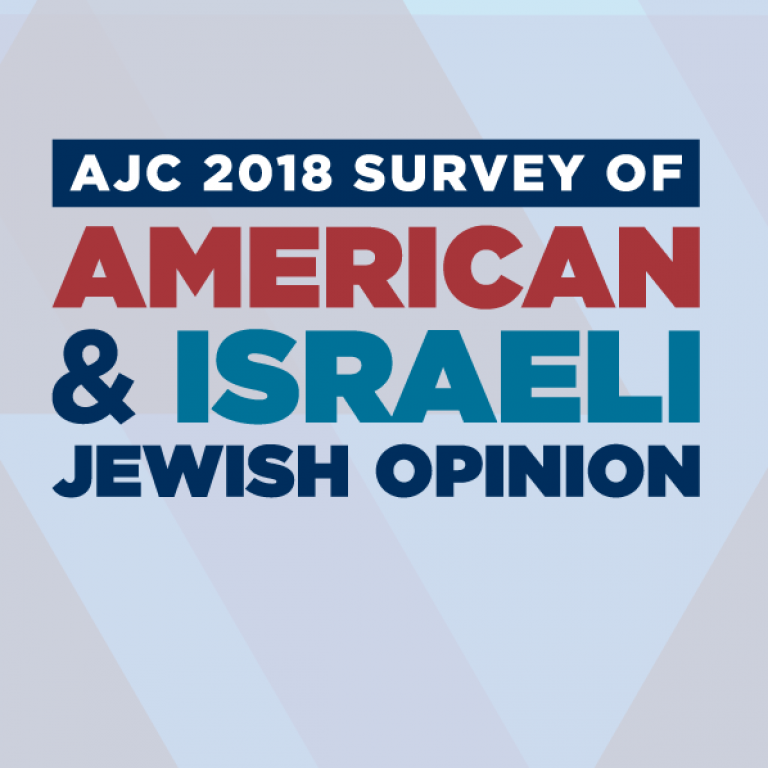Graphic displaying AJC 2018 Survey of American & Israeli Jewish Opinion