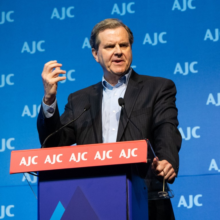 Photo of AJC CEO David Harris at AJC Global Forum 2018 in Israel