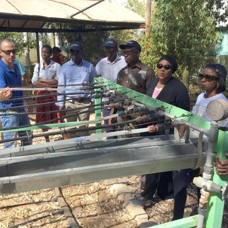This is a photo of African business leaders on a visit to Israel with Project Interchange