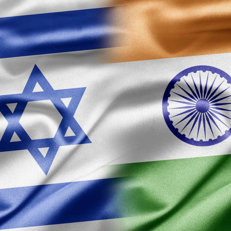Photo of the Israeli and Indian flags