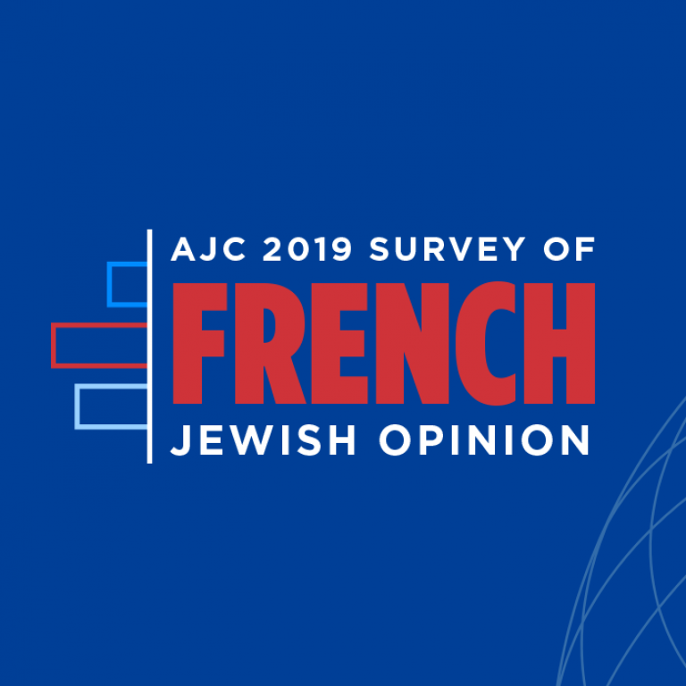Graphic displaying AJC 2019 Survey of French Jewish Opinion