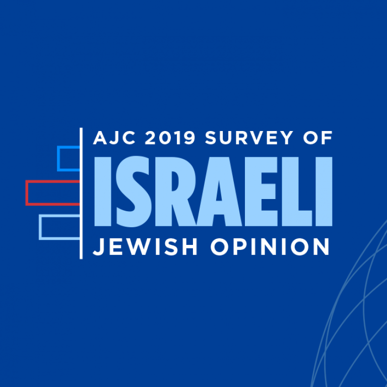 Graphic displaying AJC 2019 Survey of Israeli Jewish Opinion