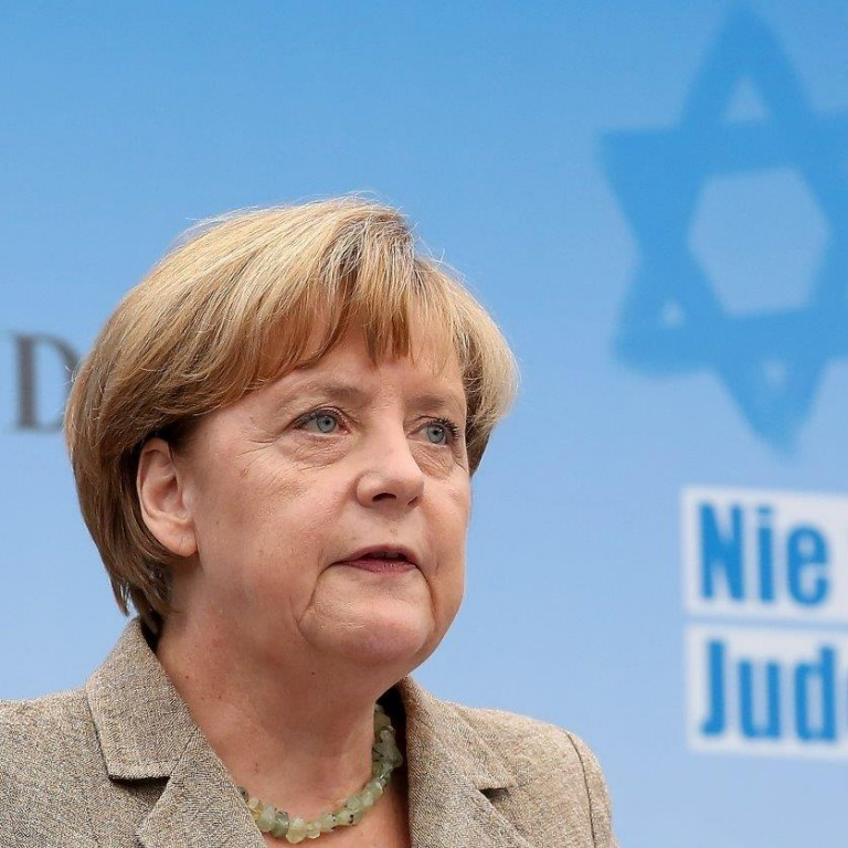 Angela Merkel at anti-Semitism rally