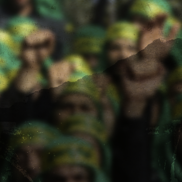Blurry photo of Hezbollah militants