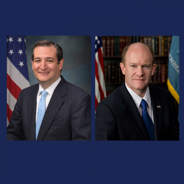 Senator Ted Cruz and Senator Chris Coons