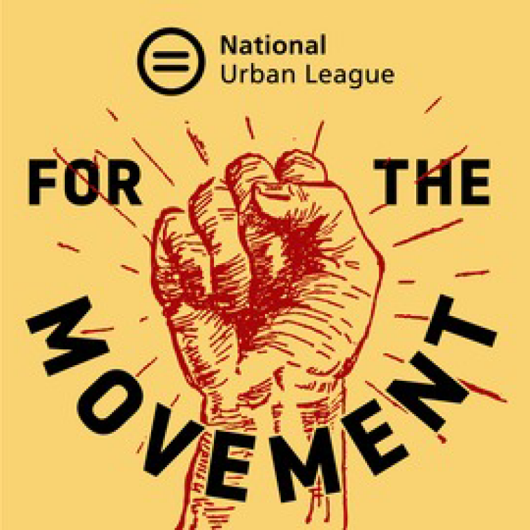 National Urban League - For the Movement with a red fist