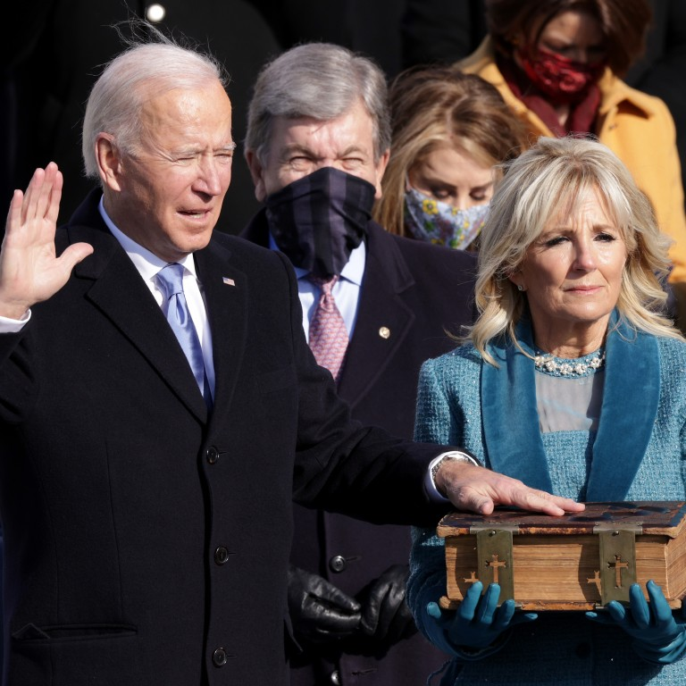 President Joe Biden takes the oath of office.