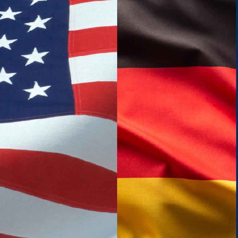 U.S. and German flags