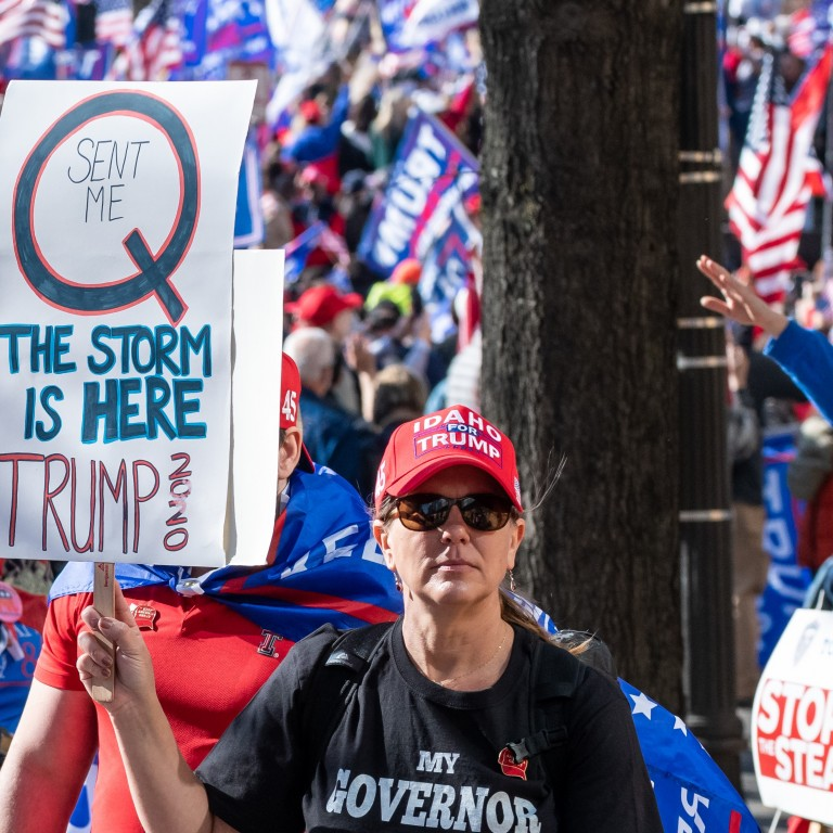 QAnon supporters at rally