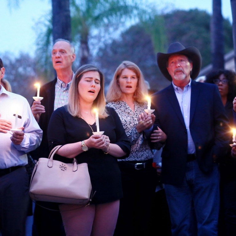 Poway Mayor Steve Vaus at a memorial for the Poway Chabad shooting in 2019